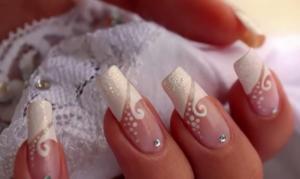 Nail Art French Manicure Mariage