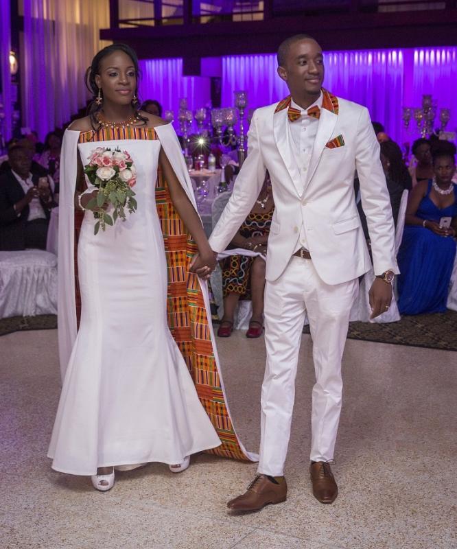 Robe wax fleur de mariage