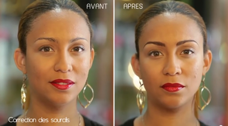 Correction des sourcils