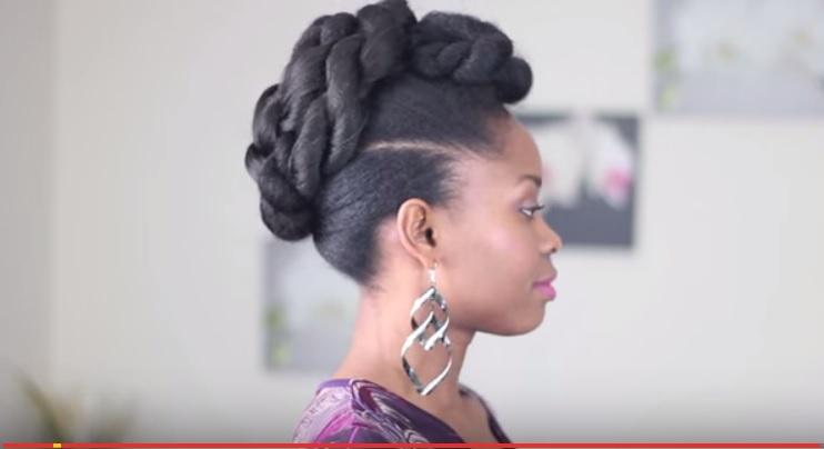 Tuto Cheveux Crépus   Rolled Up Twist